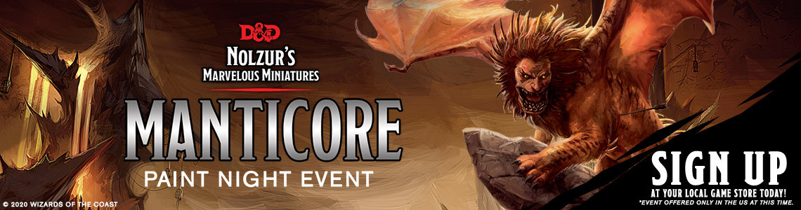Manticore Paint Night Event