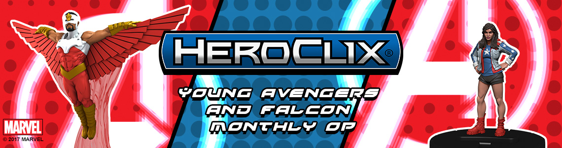 Marvel HeroClix: Young Avengers and Falcon Monthly OP