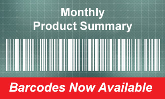 New Barcodes - Monthly Product Summary